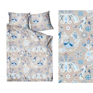 Bavlnené elegantné béžové posteľné obliečky so vzorom
