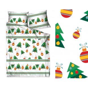 Bavlnené vianočne posteľné obliečky