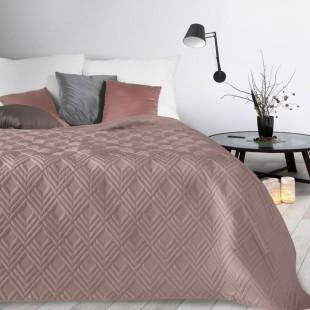 Staroružový mäkký prehoz na posteľ so vzorom