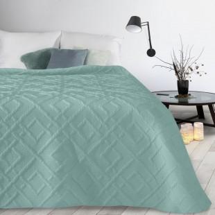 Tyrkysový mäkký vzorovaný prehoz na posteľ