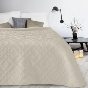 Béžový mäkký vzorovaný prehoz na posteľ