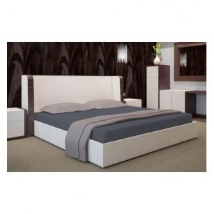 Tmavosivá napínacia kvalitná posteľná plachta