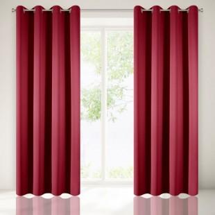 Červený dekoračný zatemňujúci záves na okno