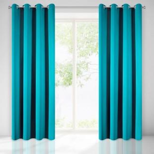 Modrý dekoračný zatemňujúci záves na okno