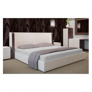 Svetlo sivá posteľná plachta napínacia