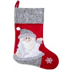 Vianočná červená čižma s mikulášom