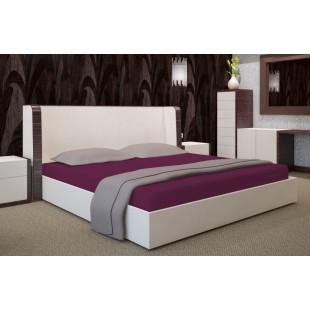 Fialová posteľná plachta z mirkovlákna bez napínacej gumičky