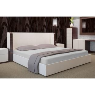 Sivá posteľná plachta zo saténovej bavlny bez napínacej gumičky