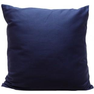 Modrá bavlnená obliečka na dekoračný vankúš