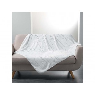 Príjemná biela deka so strieborným vzorom