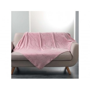 Príjemná ružová deka so strieborným vzorom
