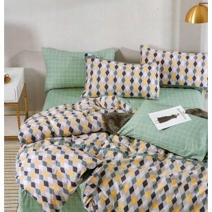 Sivá posteľná obliečka zo saténovej bavlny