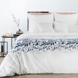 Biela posteľná obliečka zo saténovej balvny so zvorom