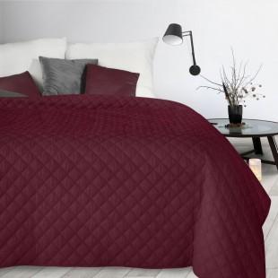 Bordový dekoračný mäkký prehoz na posteľ