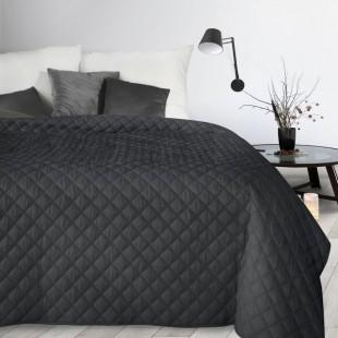 Čierný mäkký dekoračný prehoz na posteľ