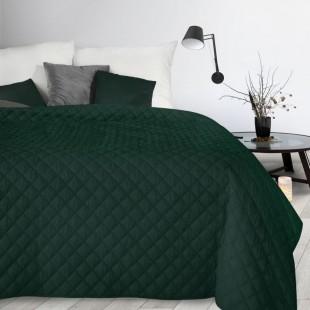 Zelenýn dekoračný mäkký prehoz na posteľ