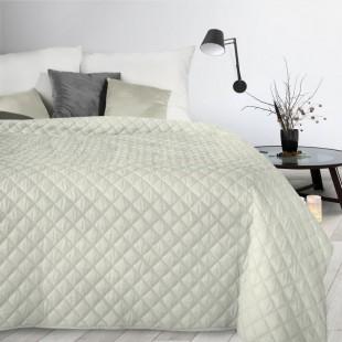 Krémový dekoračný mäkký prehoz na posteľ