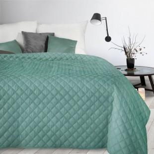 Tyrkysový mäkký dekoračný prehoz na posteľ