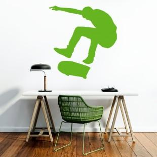 Nálepka na stenu s motívom skatera