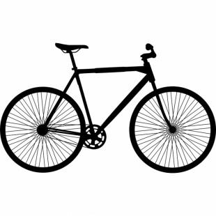 Nálepka na stenu vzor bicykla