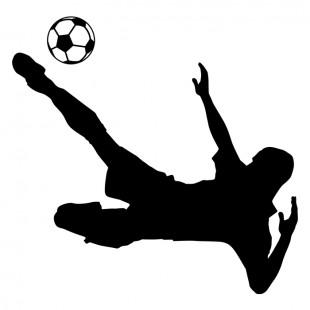 Detská nálepka na stenu s motívom futbalistu