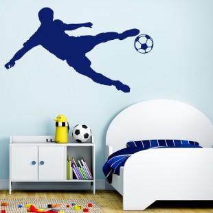 Detská nálepka na stenu s futbalistom