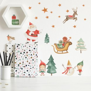 Vianočné detské nálepky