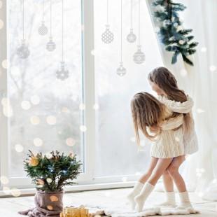 Vianočné nálepky vianočných gulí