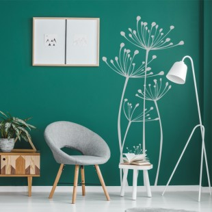 Nálepka na stenu s rastlinným motívom