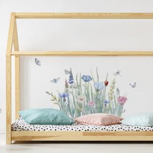 Dekoračná nálepka na stenu v kvetinovom motíve