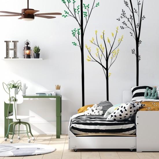 Nálepka na stenu s motívom stromu