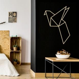 Nálepka na stenu s motívom vták origami