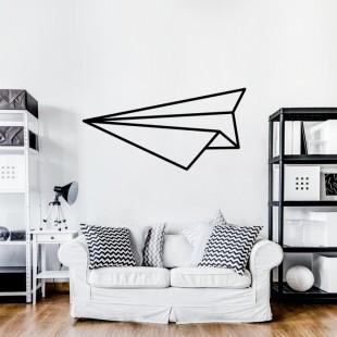 Nálepka na stenu s motívom origami lietadlo