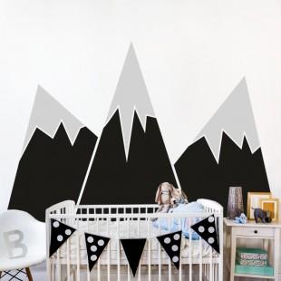 Nálepka na stenu s motívom hory