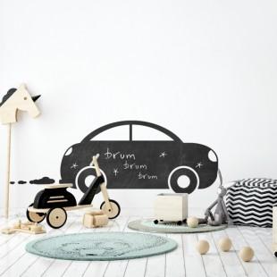 Nálepka na stenu z tabuľového materiálu vo vzore autíčka