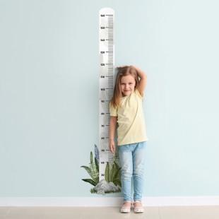 Detská nálepka na meranie výšky so vzorom rastlín