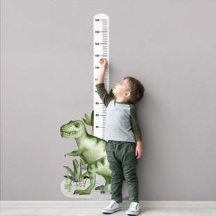 Detská nálepka na meranie výšky so vzorom Tyranosaura