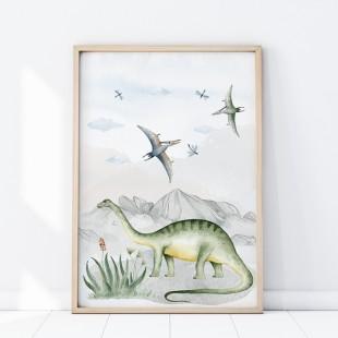 Plagát na stenu s motívom Dinosaurí svet