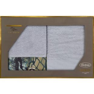 Sada 2 sivých ručníkov