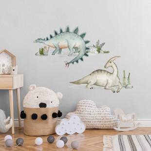 Detská nálepka s motívom dinosaurov Stegosaurus