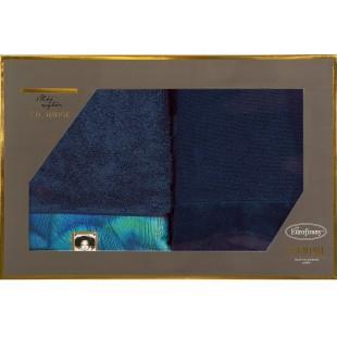 Sada 2 modrých ručníkov