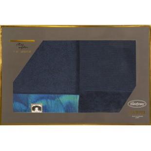 Sada 2 čiernych ručníkov