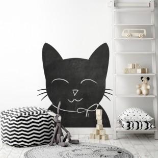 Nálepka na stenu z tabuľového materiálu vo vzore mačičky