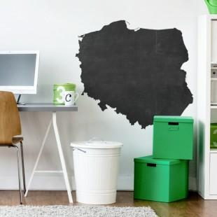 Nálepka na stenu z tabuľového materiálu so vzorom mapy