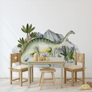 Detská nálepka s motívom dinosaurov Brontosaurus