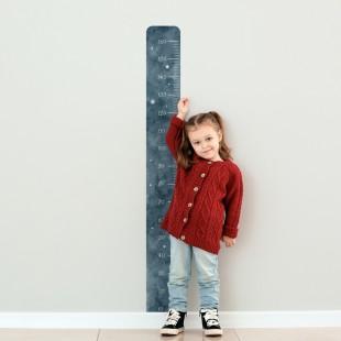 Detská nálepka na meranie výšky - vzor vesmír