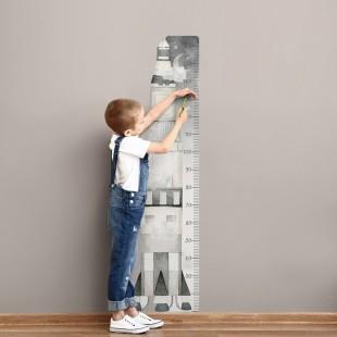 Detská nálepka na meranie výšky - vzor vesmírna raketa