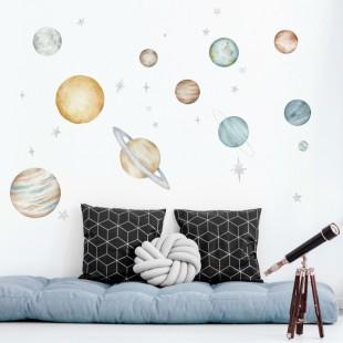 Sada nálepiek do detskej izby Planéty