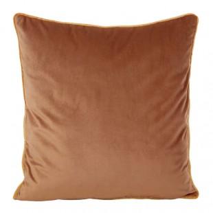 Hnedá obliečka na dekoračný vankúš so zlatým lemovaním