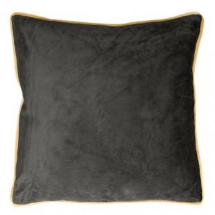 Čierna obliečka na dekoračný vankúš so zlatým lemovaním